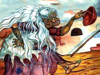 Баба-Яга с корзинкой