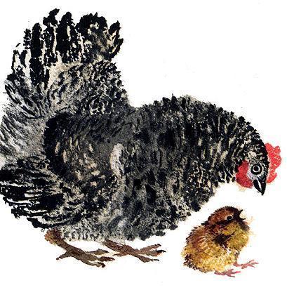Баба и курица