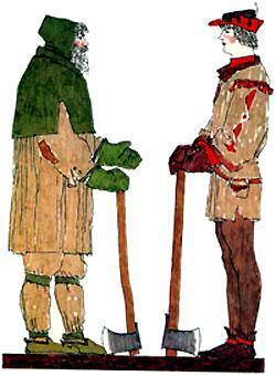 Жил-был бедный дровосек и его сын