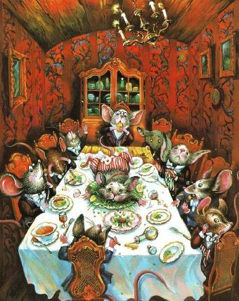 ужин пир у мышей