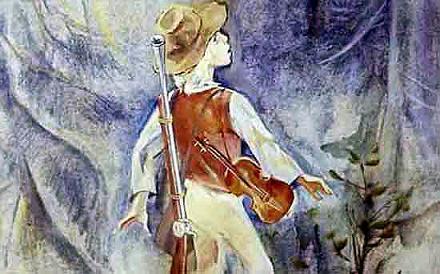 на левом плече Гонзы уже висела скрипка на алом шнуре