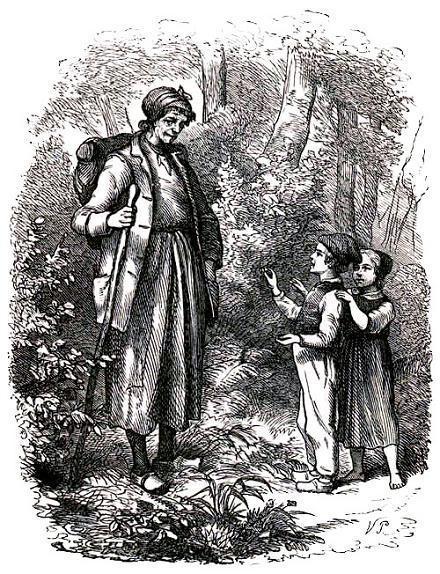 Иб и Христиночка встретили в лесу женщину