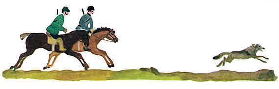 охотники на лошадях