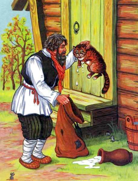 Картинки сказки лиса и кот