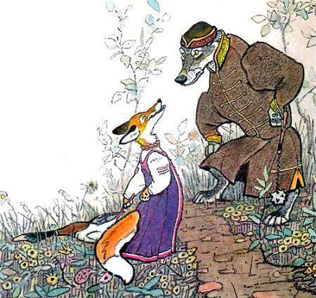 Кот и лиса (2) - Русские сказки: читать с картинками ...