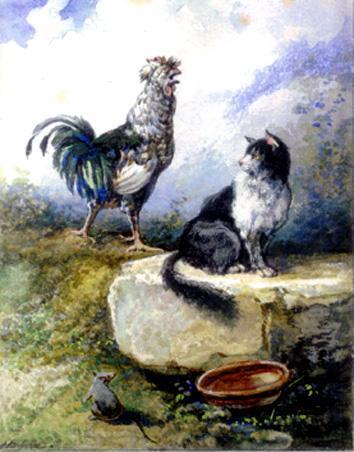 Петух кот и мышонок картинки