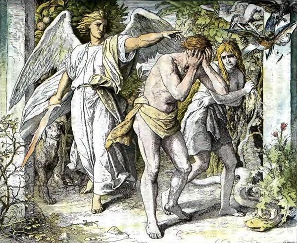 Ангел изгоняет Адама и Еву из рая