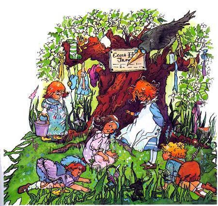 Питер Пэн дети у древа