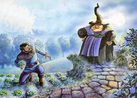 муж забрался ночью в огород сорвать салата колдунья его увидела