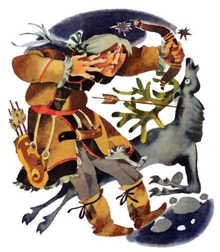 охотник и марал
