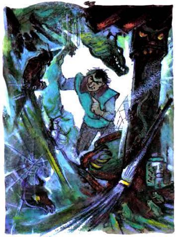 Урфин Джюс  в пещере Гингемы