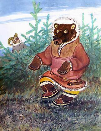 медведь и баран