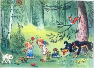 Времена года - Мы в лесу - Сказки Сутеева: читать с ...