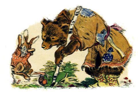 Зайкина избушка (Лиса, Заяц и Петух)