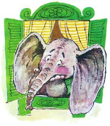 слонёнок в окне