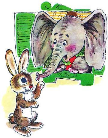 слонёнок и зайчик